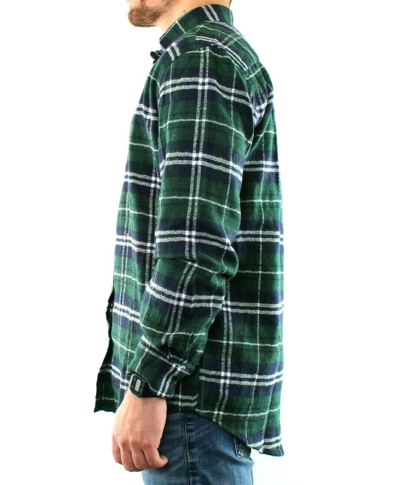St. Flannel Shirt Men's Plaid Long Sleeve Down