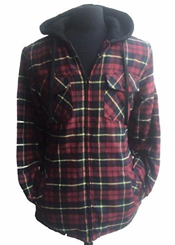 22 Color/Styles Tall & Warm Men's Full Zip Hooded Flannel &