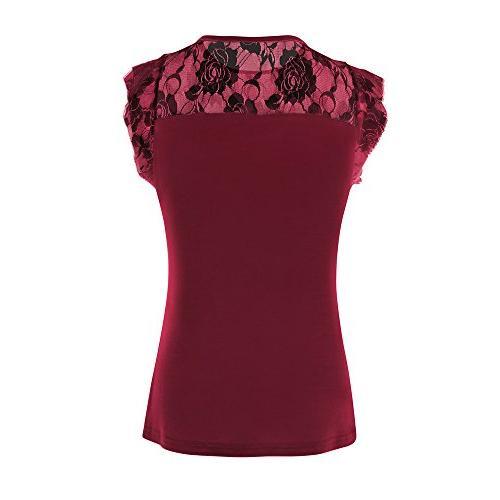 ZOMUSAR Women's Tops, Women Short Solid T-Shirt Tops