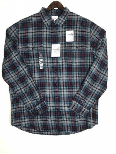 Sonoma Supersoft Flannel Long Sleeves Button Front Men's S