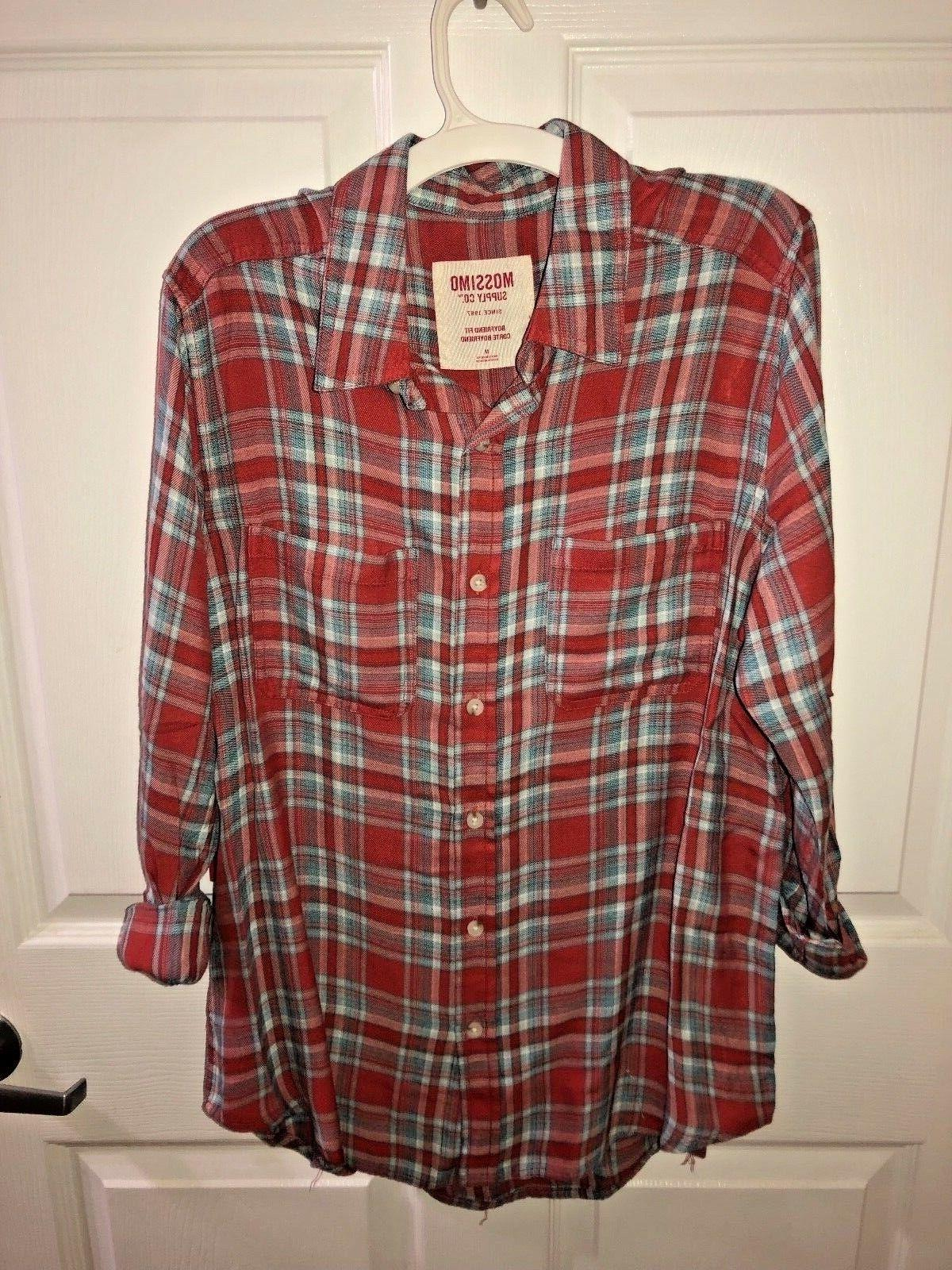 supply co women s red flannel shirt