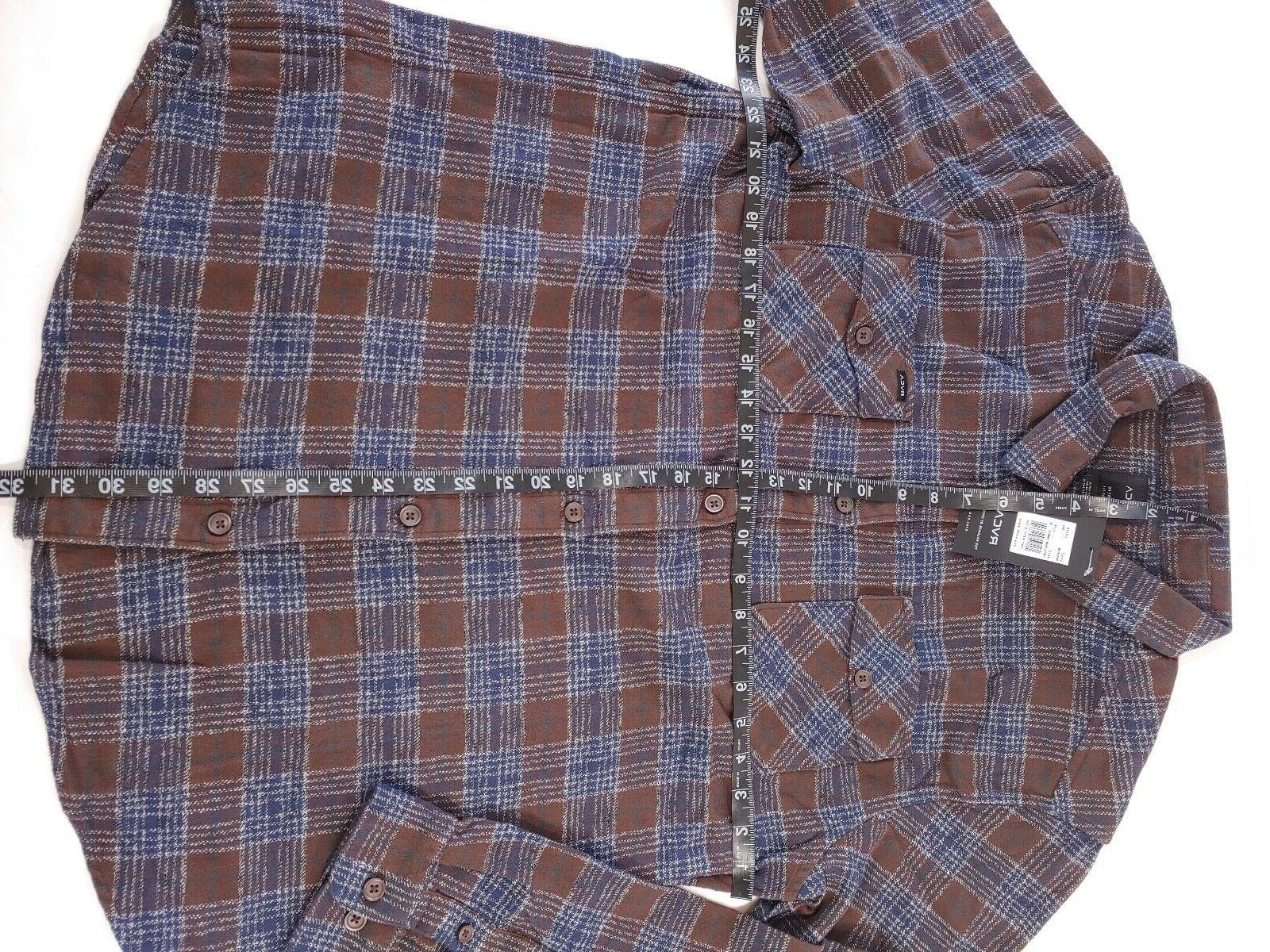 RVCA That'll Shirt Plaid Long Regular Fit XL