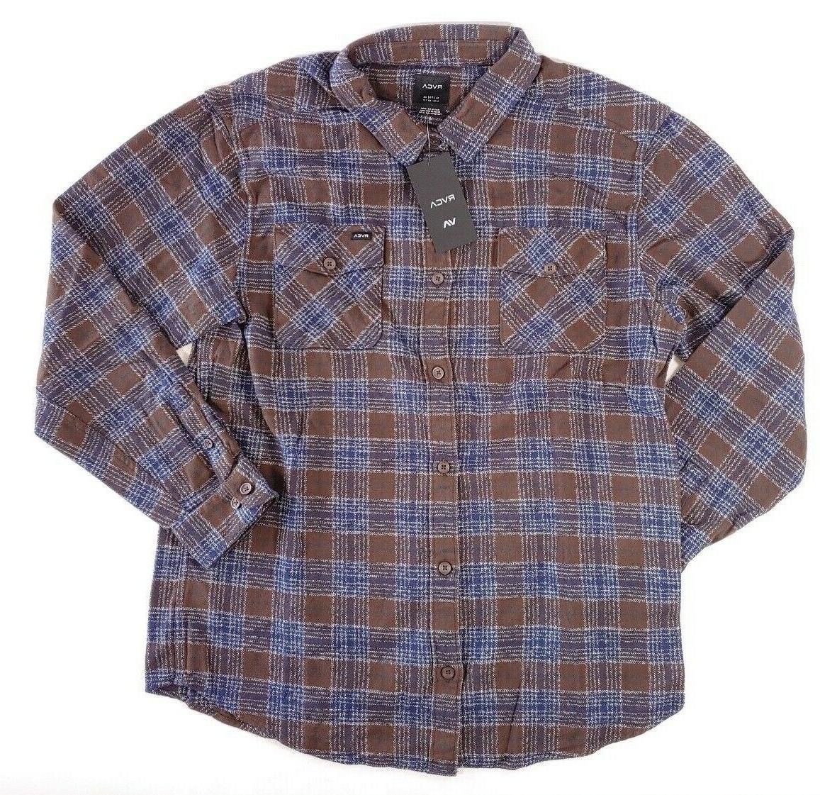 RVCA Work Shirt Plaid Long Regular Fit