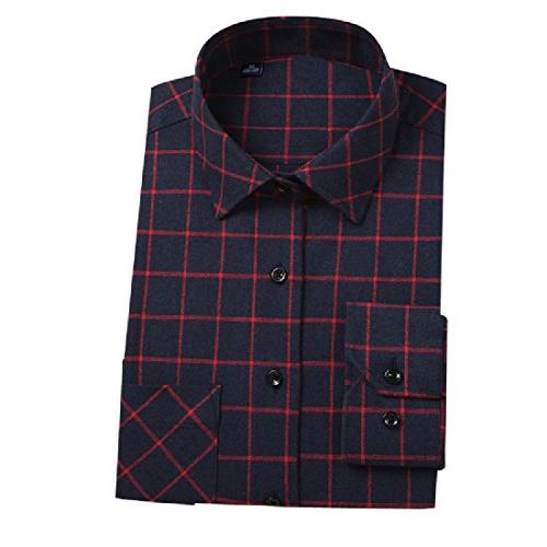 tootless men long sleeve plaid flannel lounge