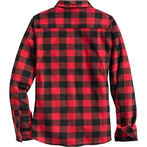 Legendary Whitetails Ladies Guide Fleece Button Shotgun Red
