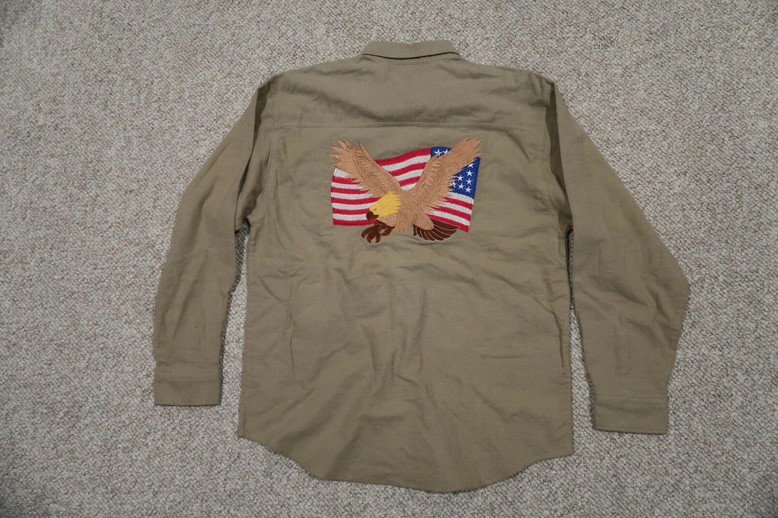 TRI-MOUNTAIN USA FLAG & EAGLE TAN