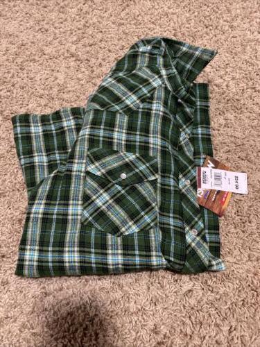 Wrangler Flannel Green Sleeve L Snaps