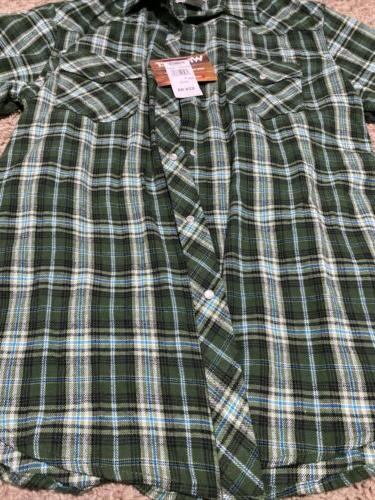 Wrangler TSC Supply Flannel Sleeve Large L Snaps