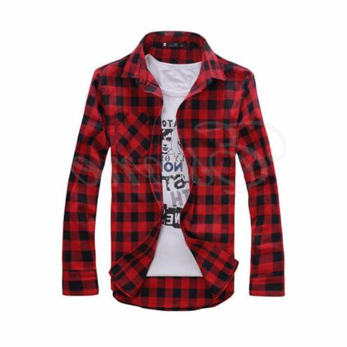 US Mens Lumberjack Tartan Check Shirt