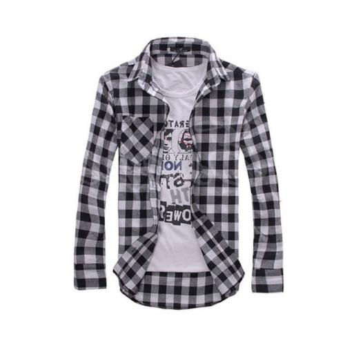 US Plaid Lumberjack Check Brushed Cotton Casual Tops