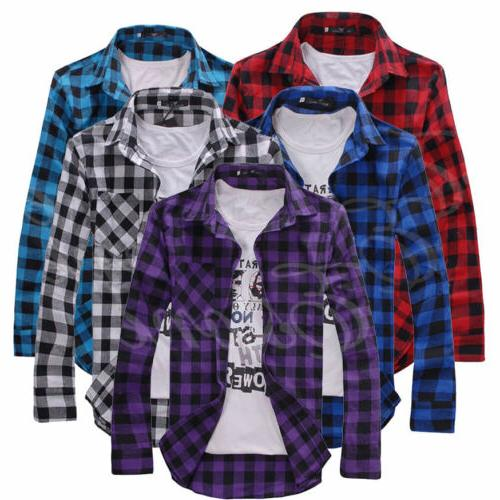 US Plaid Lumberjack Tartan Brushed Cotton Casual
