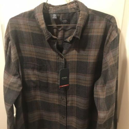 Arrow USA Large Hunting Plaid Button Up Flannel NWT