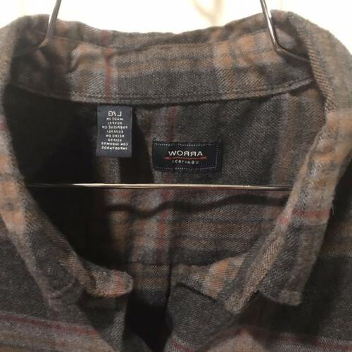 Arrow 1851 Large Hunting Up Shirt Long Flannel NWT