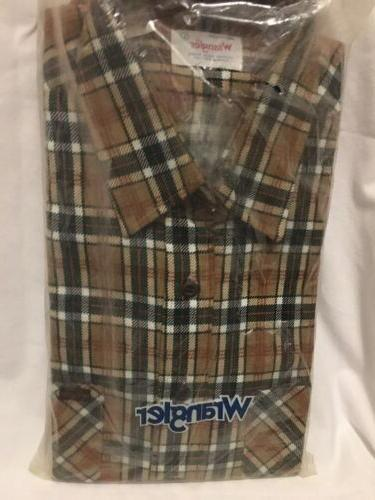 usa flannel long sleeve shirt new old