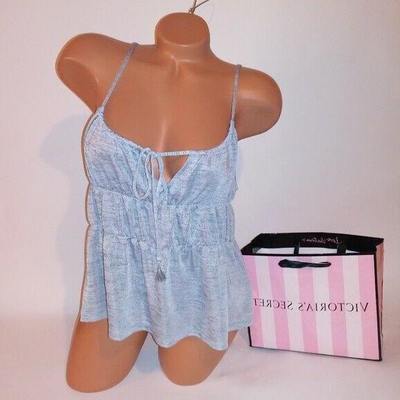 victoria secret tank top camisole sleepwear gray