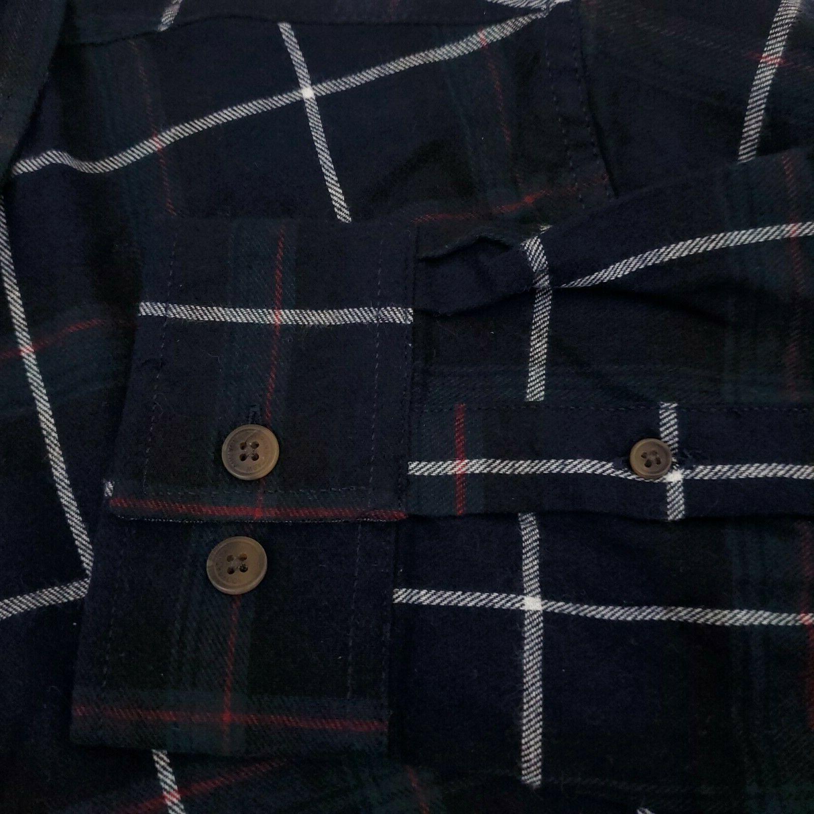 Weatherproof Men's Flannel Shirt Long 100% Cotton