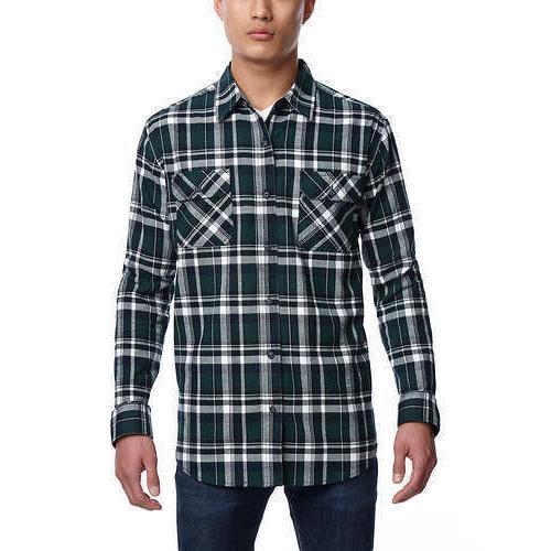 Weatherproof Sleeve Lightweight Plaid Flannel Shirts E34