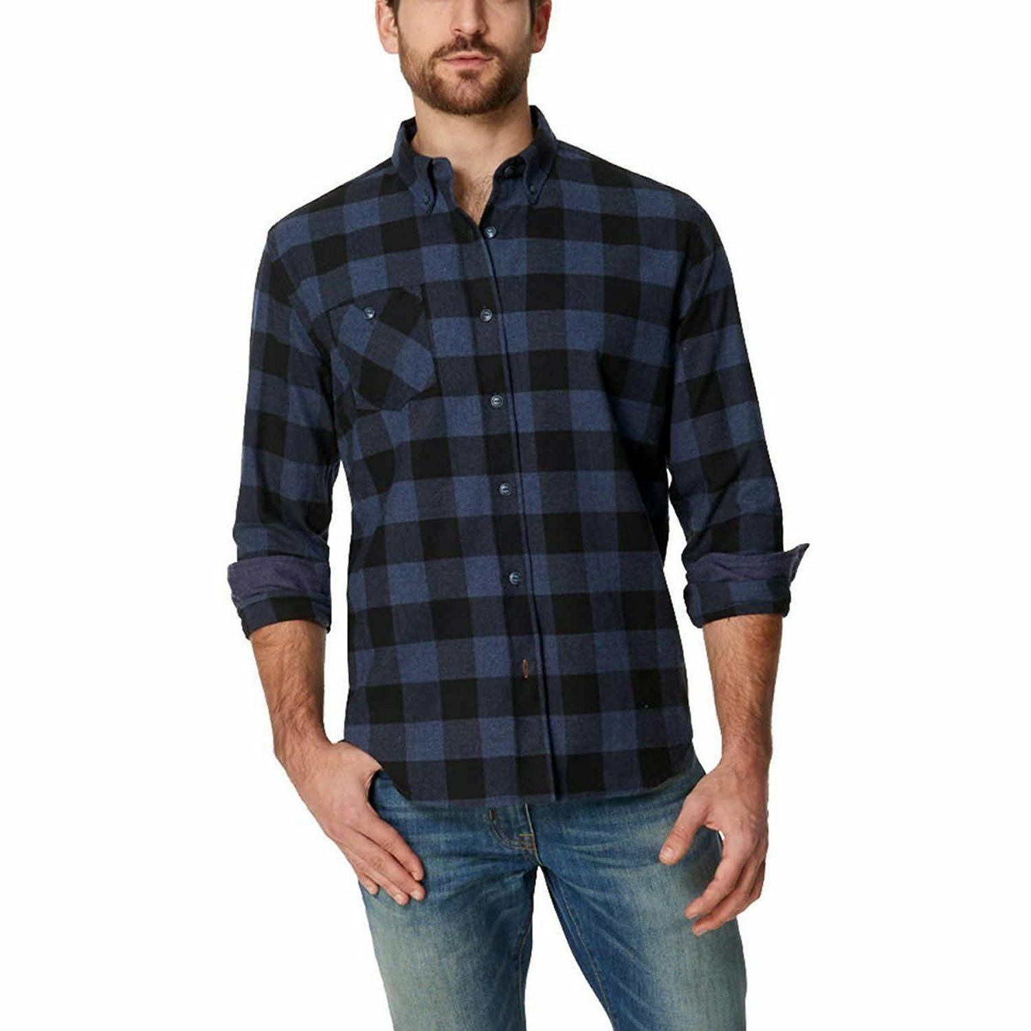 Weatherproof Men's Long Sleeve Flannel Shirts