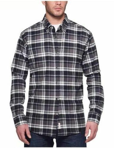 Weatherproof Vintage Men's Sleeve Lightweight Plaid Shirts E33