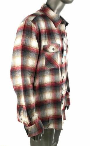 Weatherproof Mens Plaid Long Shirt NWT