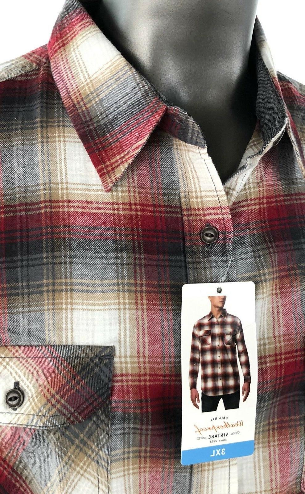 Weatherproof Plaid Flannel Long Sleeve Shirt NWT