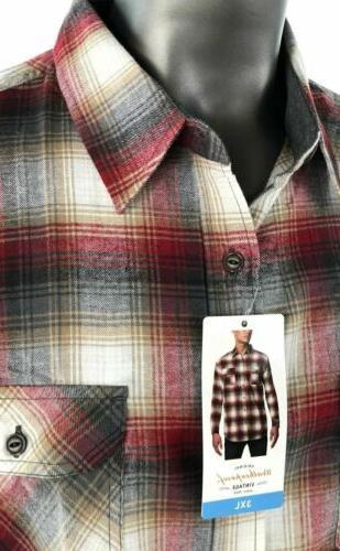 Weatherproof Vintage Mens Plaid Long Shirt