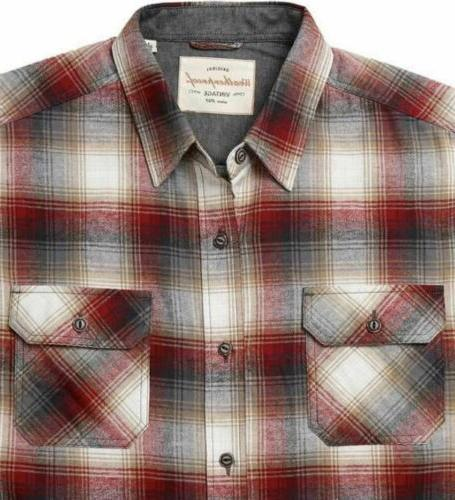 Weatherproof Mens Plaid Flannel Shirt