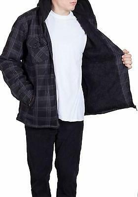 Visive Flannel Jackets for Men Up Lined Shirt