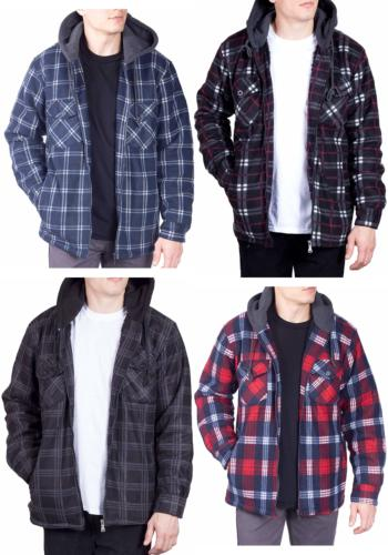 Visive Flannel Hoodie Jackets Up Sherpa Shirt
