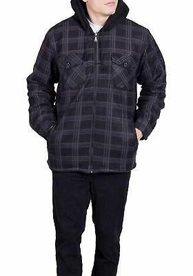 Visive Flannel Hoodie Jackets Up Fleece Lined Shirt