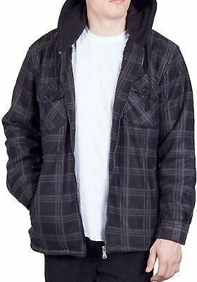 visive mens flannel hoodie jackets for men