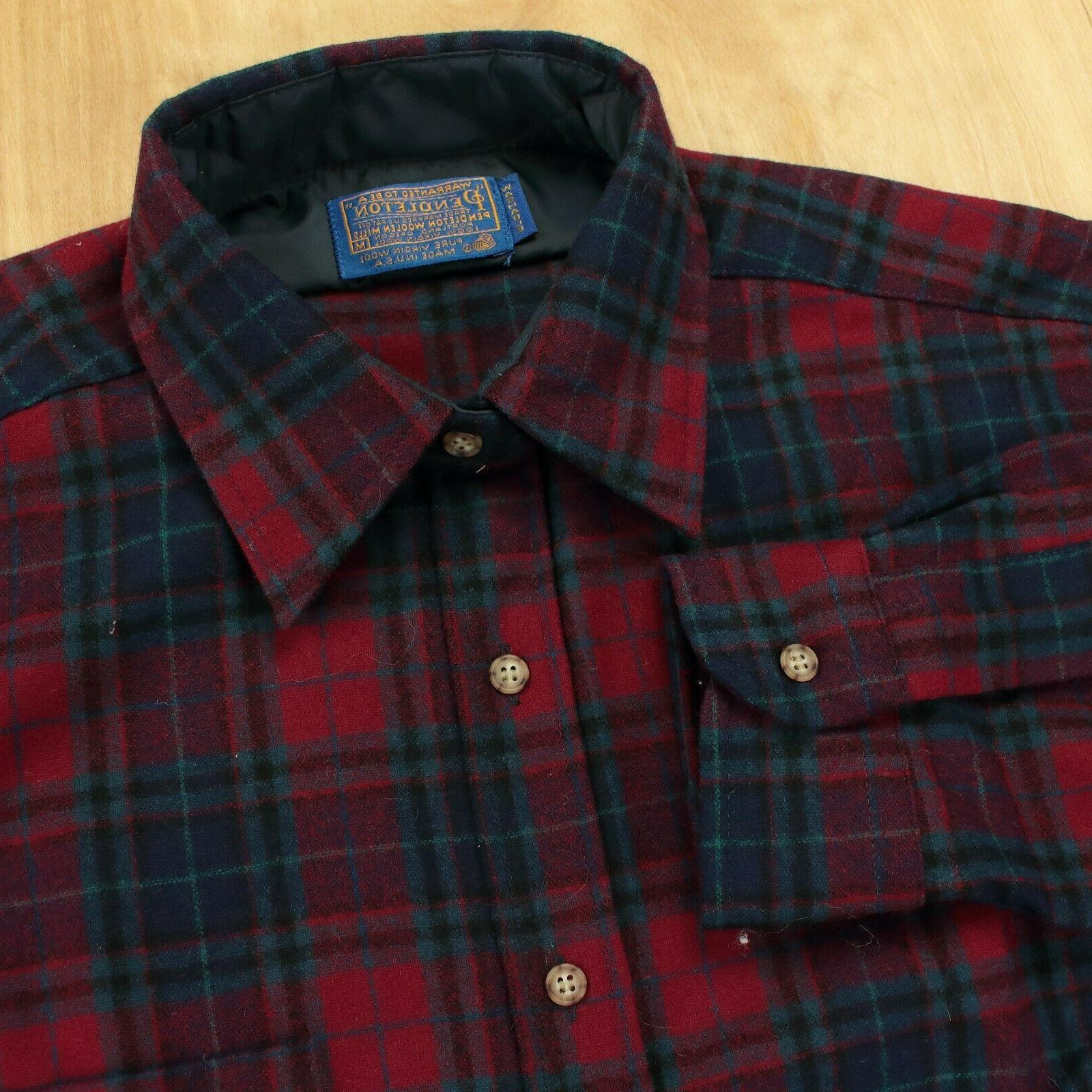 vtg usa wool flannel elbow patch