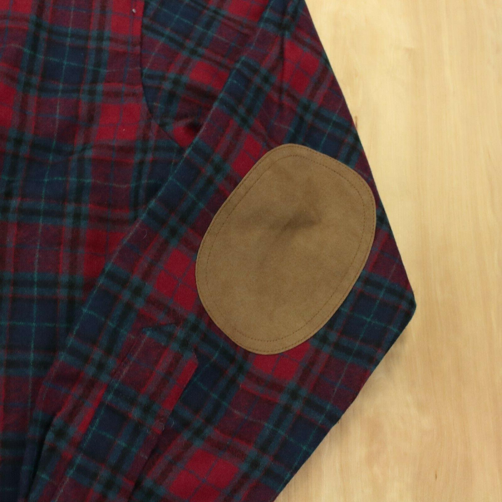 vtg pendleton wool shirt patch plaid