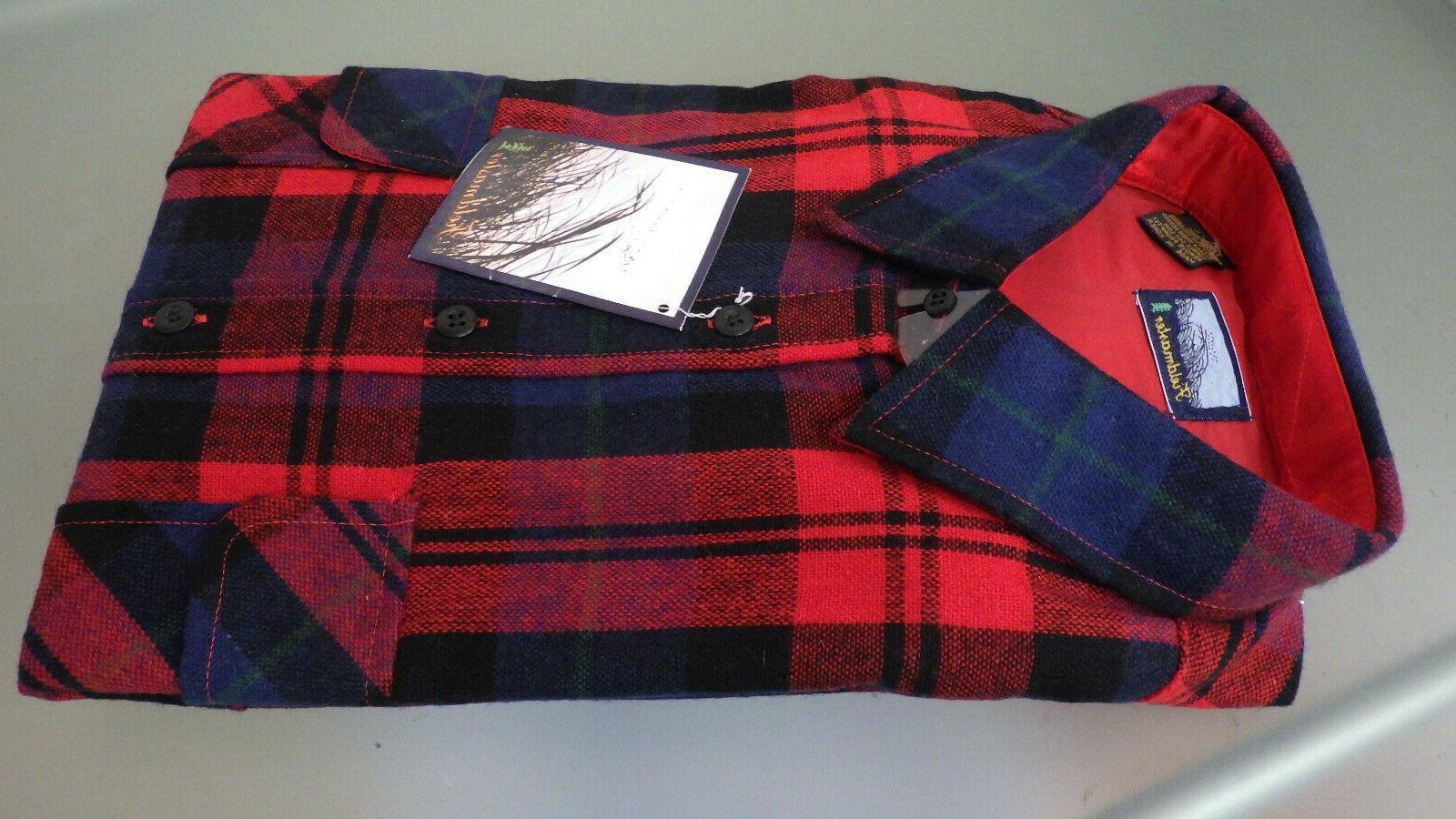 Vtg NWT FIELDMASTER Flannel Sportswear LS Shirt Large New w