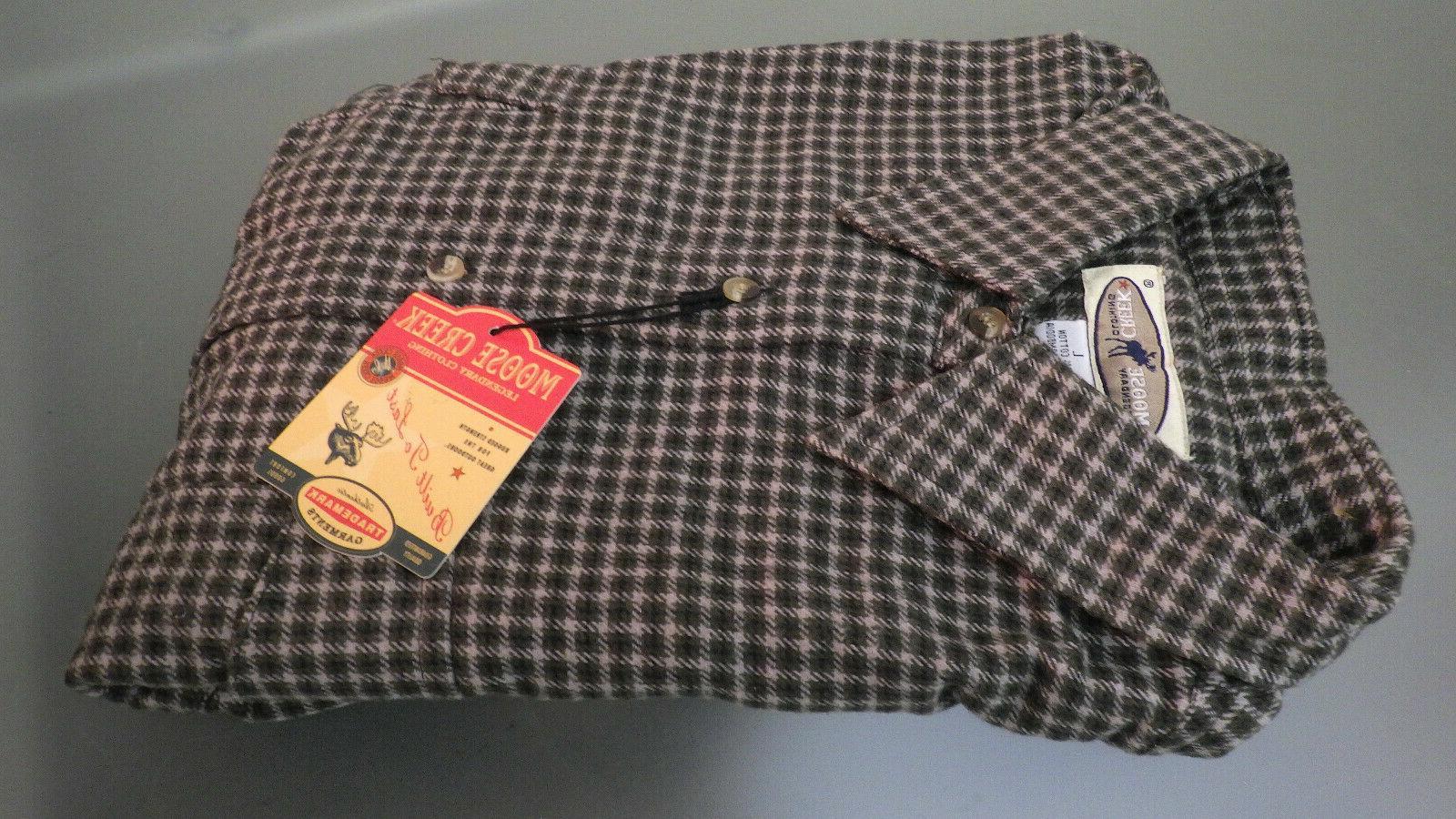 Vtg NWT MOOSE CREEK Heavy Flannel Sportswear LS Shirt Large