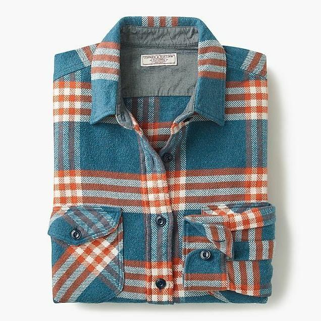 wallace and barnes heavyweight flannel shirt in
