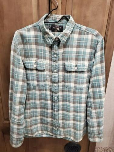 western flannel work shirt large l ralph