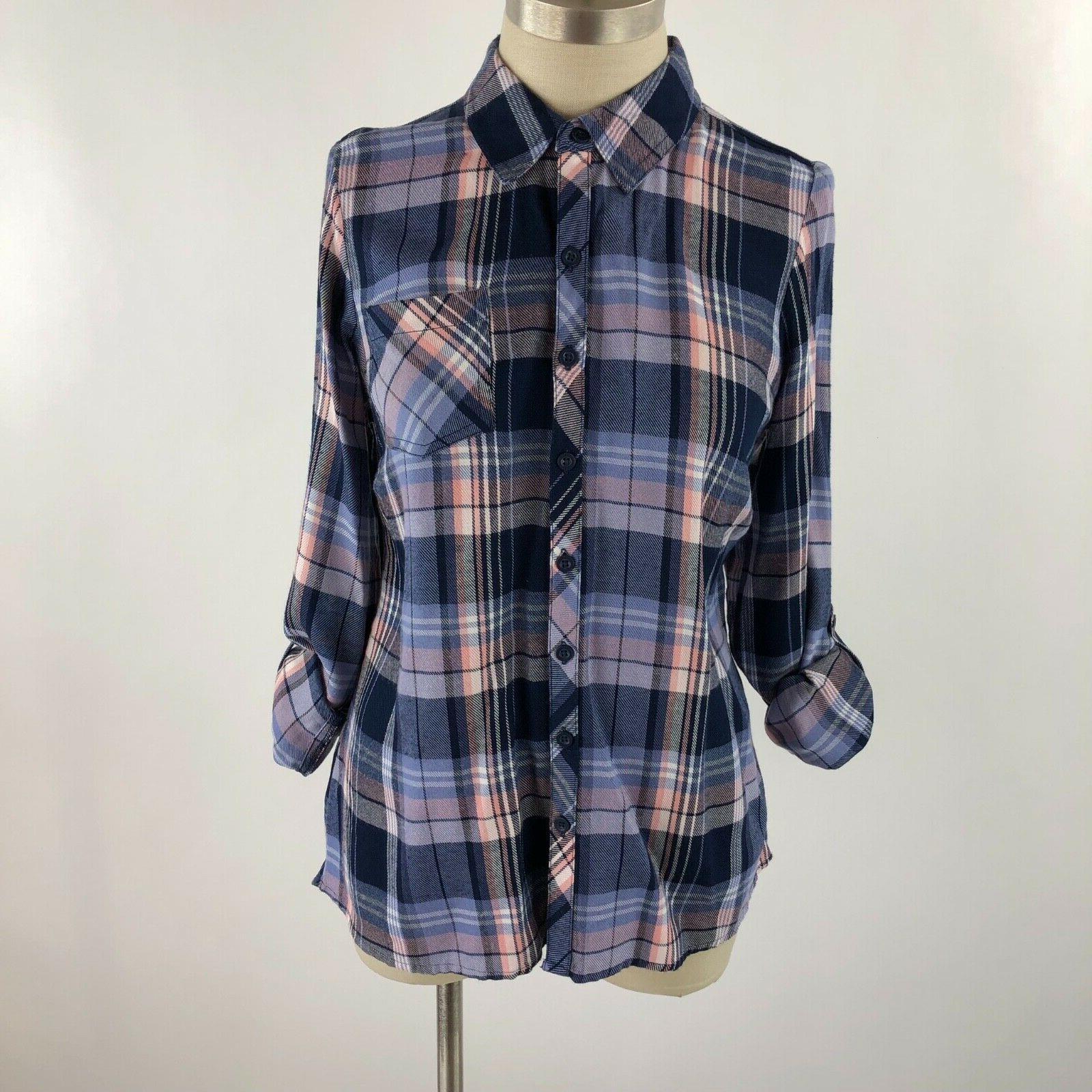 Dressbarn XS Flannel Button Shirt