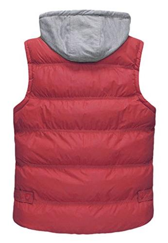 Wantdo Winter Thicken Cotton Stand Vest With Hood