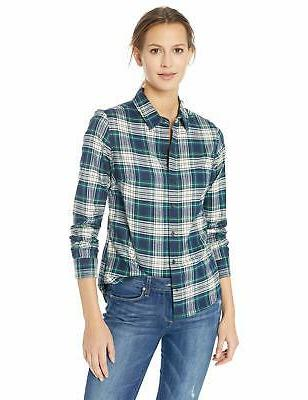 women s audrey fitted flannel shirt ivo