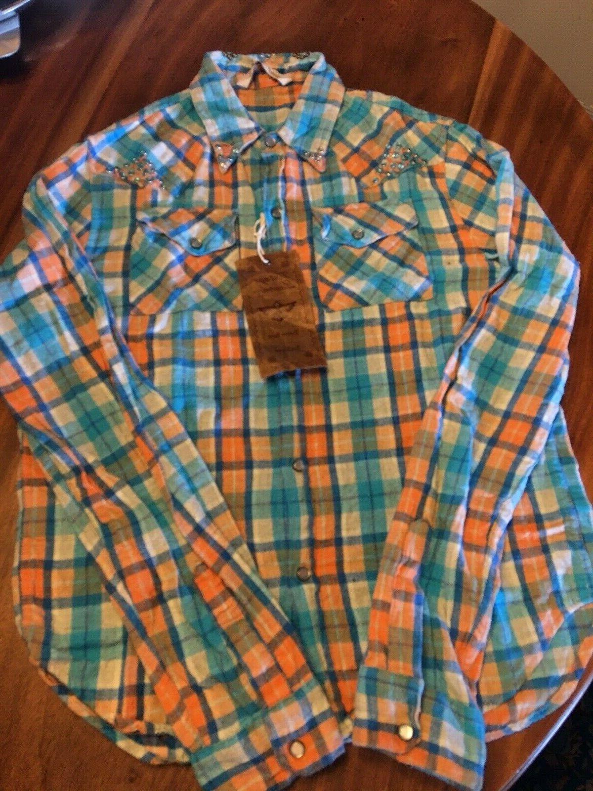 Women's Vintage Brand Western Style Flannel Shirt Size