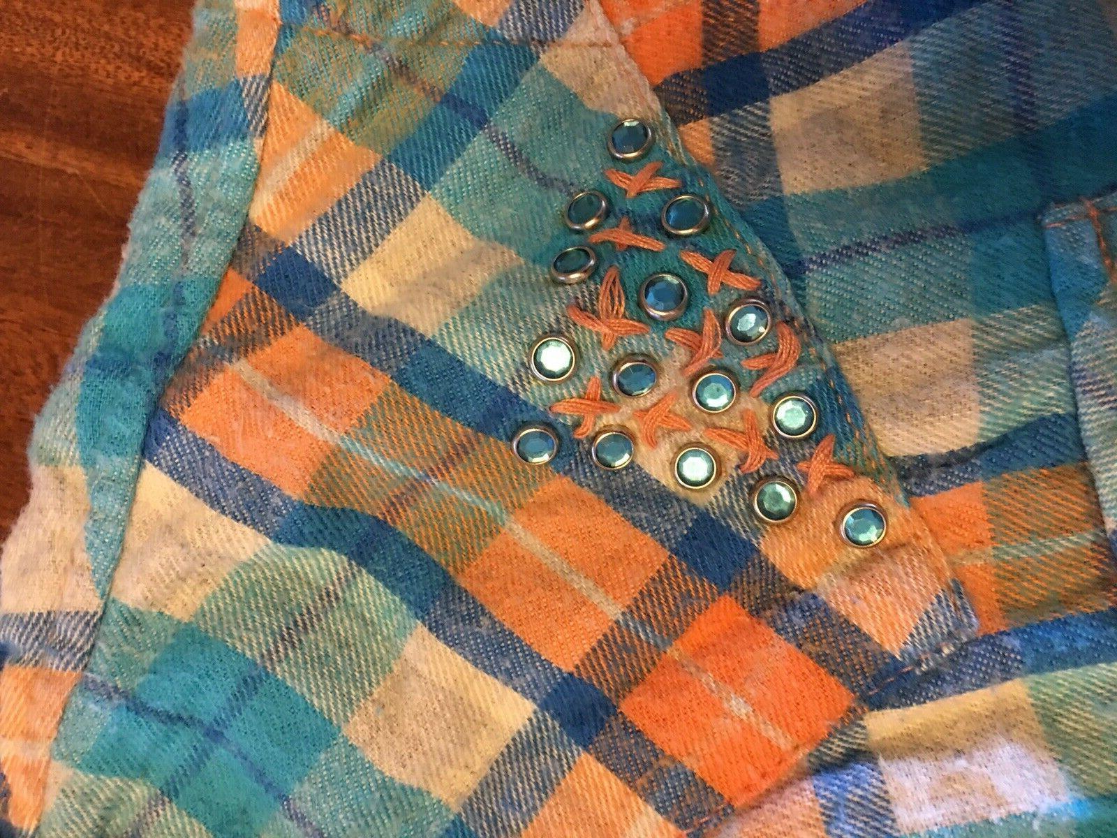 Women's Laundry Western Style Long Flannel Size