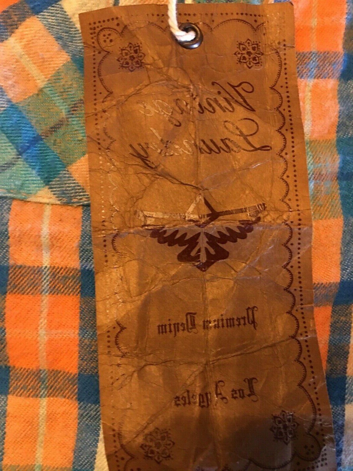 Women's Vintage Western Style Flannel Size
