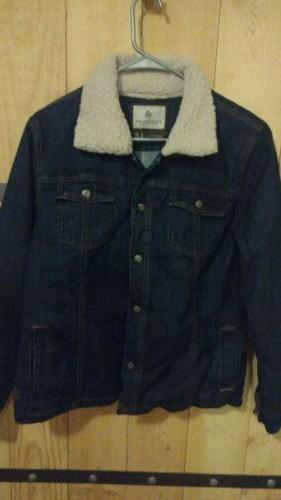 women s flannel lined denim jacket size