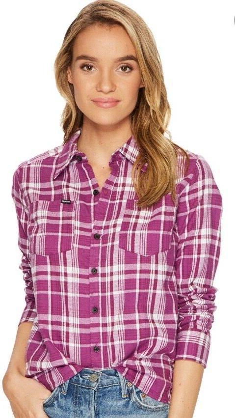 women s flannel long sleeve button down