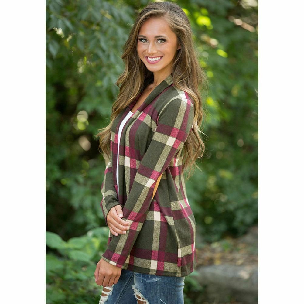 Women's Flannel Sleeve Cardigan