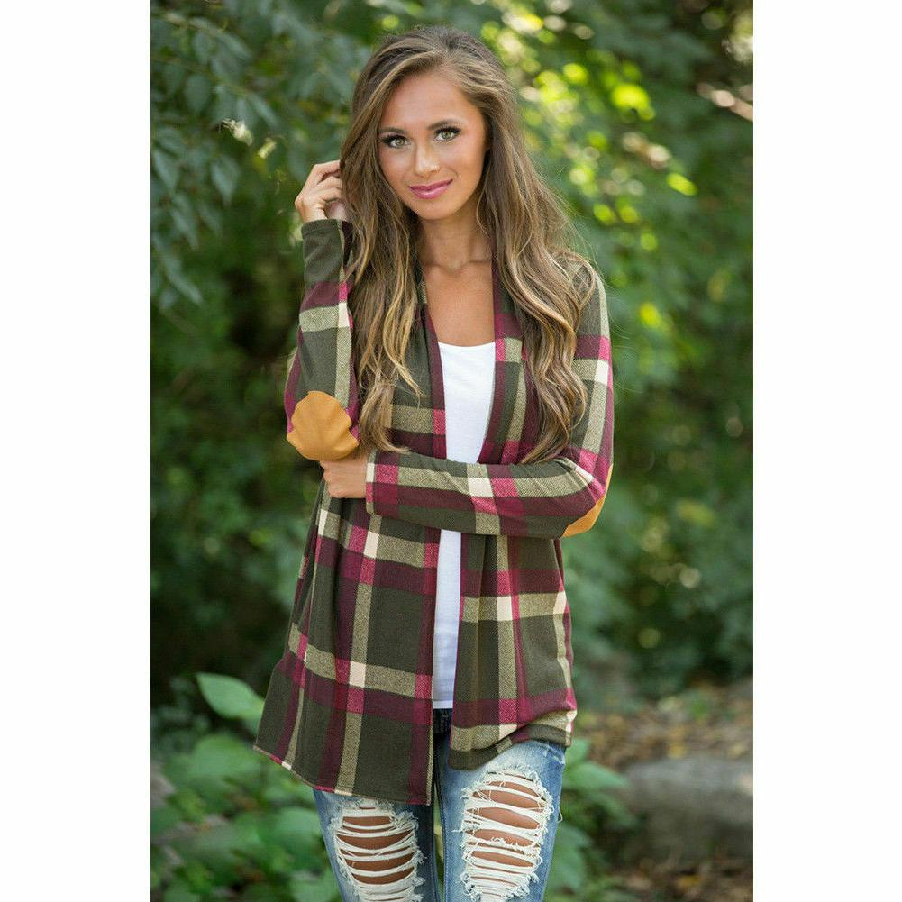 Women's Long Sleeve Shirts Loose Cardigan Top