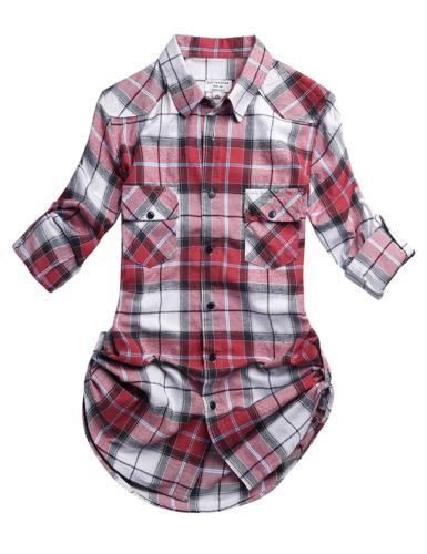 Match Women's Button Flannel Shirt