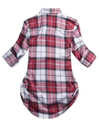 Match Long Button Down Shirt Checks#4