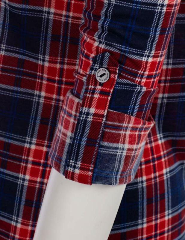 Jj Sleeve Plaid Shirt